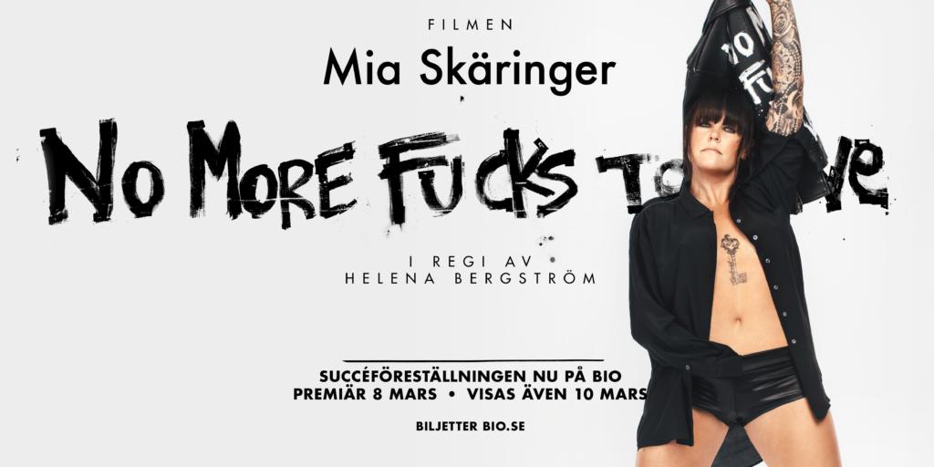 Mia Skäringers succéföreställning No More Fucks To Give på bio